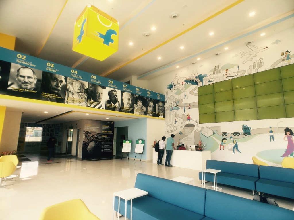 21 most beautiful walls seen in offices around india officechai flipkart office bangalore wall mural