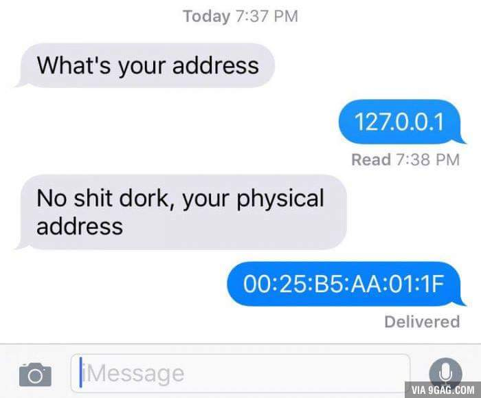 your address