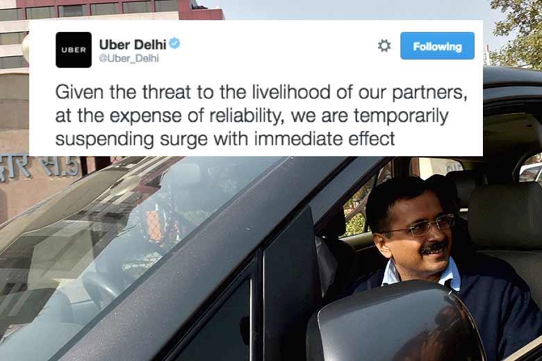 uber surge ban in delhi
