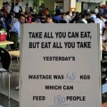 TCS food wastage sign