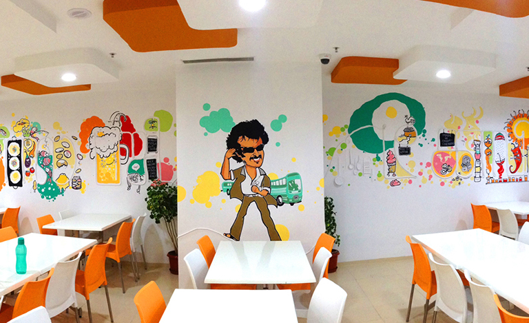 Freshdesk office Chennai wall mural