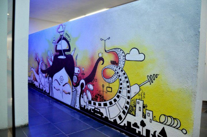 Vistaprint Office Bombay Wall Mural