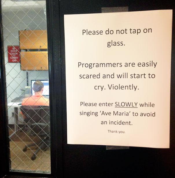 Passive aggressive note in office