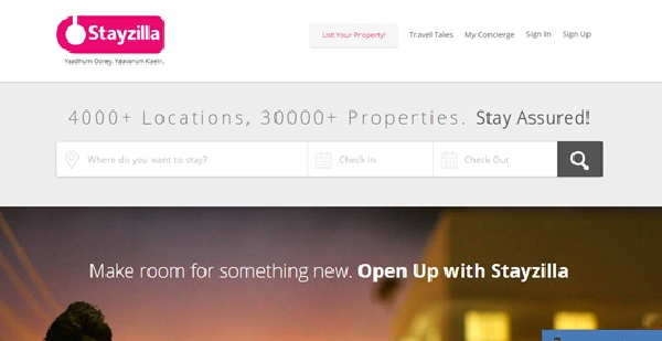 stayzilla top travel startups in india