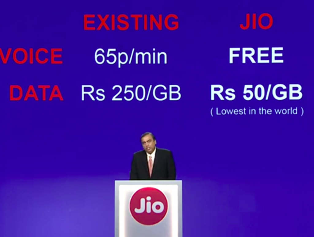 reliance Jio data plan free calls