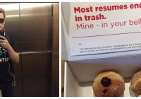 Man Disguised As Delivery Guy Hand Delivers Resume In A Box Of Doughnuts