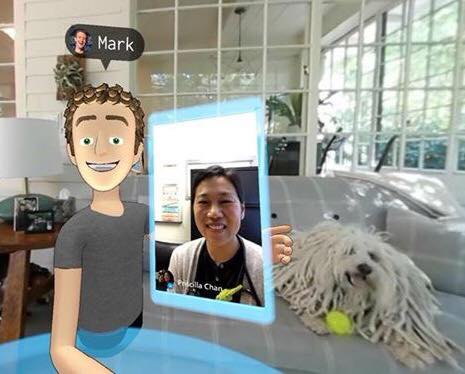 mark zuckerberg virtual selfie