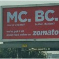 zomato outdoor ads