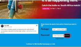 Some Users Are Upset With Tata Sky's Website Which Adds Channel Packs At Login Without Their Knowledge
