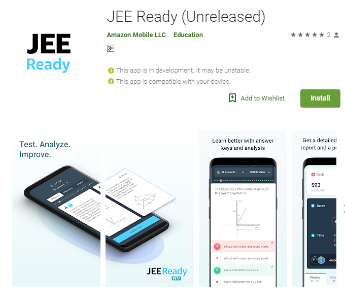 jee ready amazon