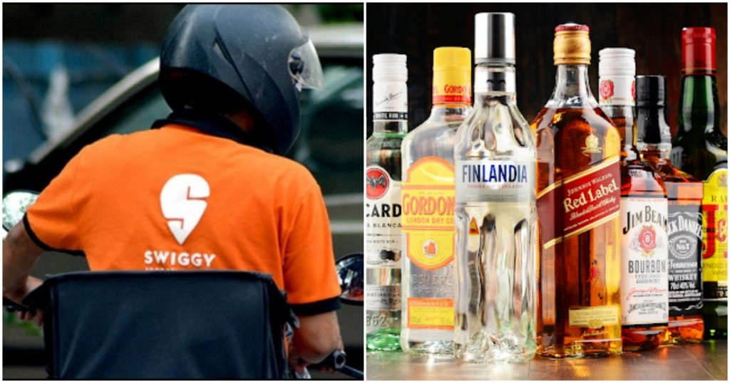 swiggy home delivery of alcohol