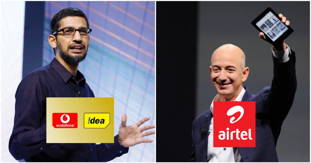airtel amazon google vodafone idea